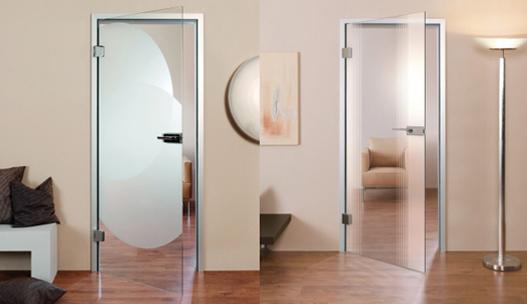 Staklena sobna vrata